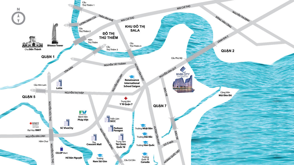 vi tri river city