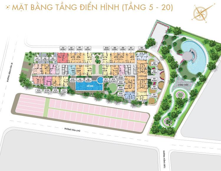 Thiết Kế Căn Hộ Moonlight residences Đặng Văn Bi