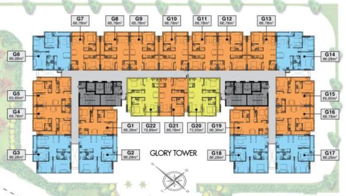 Mặt bằng Block Glory căn hộ richmond city
