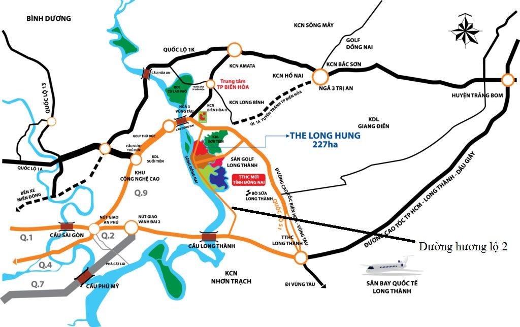 Vị trí Long Hưng City